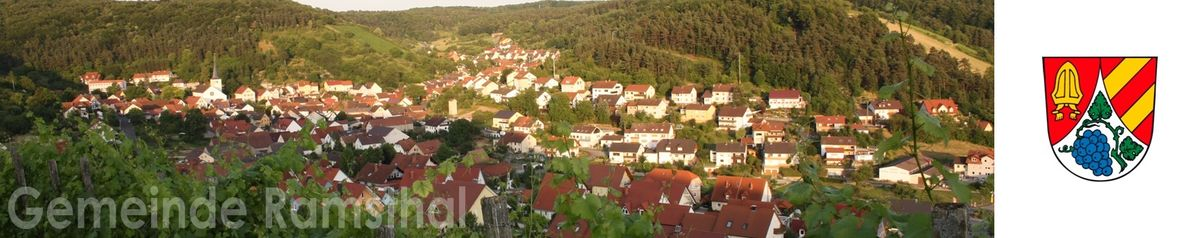 Ramsthal Panorama mit Wappen