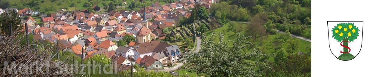 Sulzthal Panorama mit Wappen