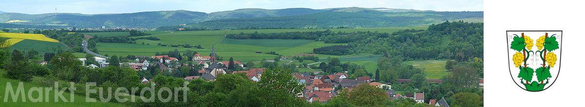Euerdorf Panorama mit Wappen3